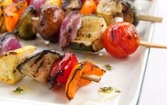 Grilled Veggie Kebabs // Perfect for the grill! #recipe #vegan #summer #grill