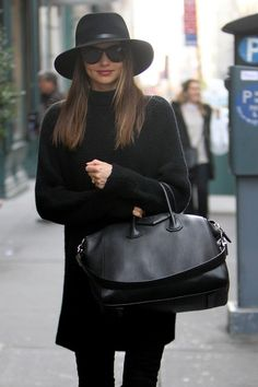 Hat/Bag Love. Chic street style on M.K.  this is the Givenchy bag that the girl at ps450 had.  total bag envy!...g