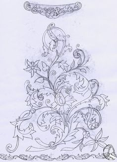 Jose Manuel Hermoso's media statistics and analytics Folk Embroidery, Japanese Embroidery, Embroidery Patterns, Machine Embroidery, Embroidery Design Software, Outline Designs, Batik Pattern, Pencil Design, Motif Floral