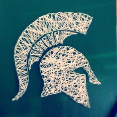 Michigan state diy string art project crafts to do pinterest sparty string art success freerunsca Images