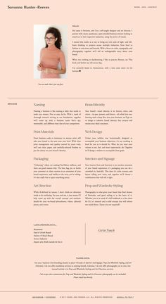 Web design – Savanna Hunter-Reeves