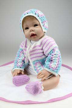 89.25$  Buy here - http://ali35n.worldwells.pw/go.php?t=32313314274 - 22inch 55cm Silicone baby reborn dolls, lifelike doll reborn babies toys for girl princess gift brinquedos  Children's toys