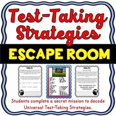Test Taking Strategies ESCAPE ROOM - Test Prep... by Think Tank | Teachers Pay Teachers