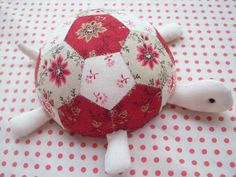 Turtle Pincushion - not a quilt but cute use of hexies :)