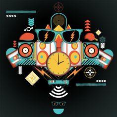 Modish Illustrations by Gordon Reid aka Middle Boop   Abduzeedo Design Inspiration