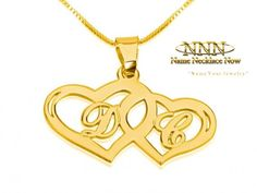 Wide collection of Gold Initial Pendant Necklaces. Orders Ships Within 24 Hours, Free Shipping!