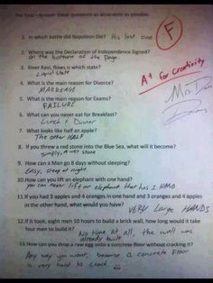 TOO FUNNY!! Funny Kids Homework, Good Comebacks, Writing Skills, Very Clever, Clever Kids, Clean Funny Pictures, Funny Pics, Funny Comedy, Seriously Funny
