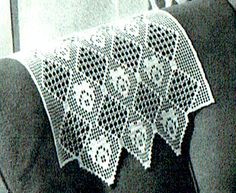 Your place to buy and sell all things handmade Filet Crochet, Crochet Motif, Crochet Doilies, Crochet Stitches, Crochet Hooks, Knit Crochet, Floral Chair, Easter Crochet Patterns, Victorian Pattern