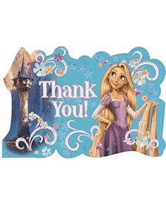 Tangled 'Save The Date' Thank You Cards