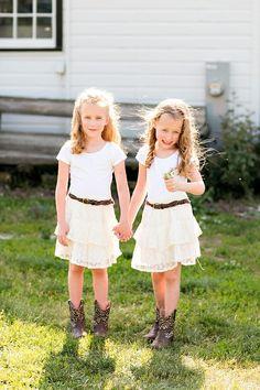 Classic farm wedding flower girls in cowboy boots - Classic farm wedding flower girls in cowboy boots  Repinly Kids Popular Pins