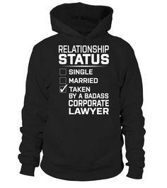 Corporate Lawyer - Relationship Status  #bike #bicycle #shirt #tzl #gift #lovebike #cycling