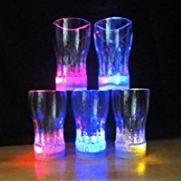Dinnerware & Serving Dishes 6 Led Light Flashing Decorative Beer Mug Drink Cup Party Wedding Club & Garden Glow Party Supplies, Glass Bar, Wine Glass Charms, Party Cups, Car Lights, Night Lights, Leaded Glass, Romantic Gifts, Mugs