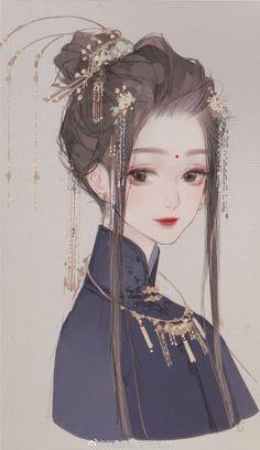 Asian Beauty, drawing, art (no known artist, sorry). Chica Anime Manga, Kawaii Anime, Anime Art Girl, Manga Girl, Anime Girls, Aesthetic Anime, Aesthetic Art, Japonese Girl, Photo Manga