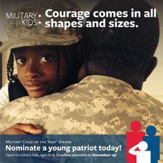 Make your list, check it twice. Don't forget to nominate an outstanding military child for our 2015 Military Child of the Year. Deadline extended to Dec. 19. One recipient from each branch will receive $10,000, a laptop, and a trip to attend our special gala in Washington D.C. in April 2015. http://www.militarychildoftheyear.org