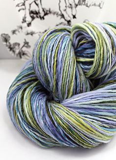 Handspun Yarn Gently Thick and Thin Single by SheepingBeauty, $36.00