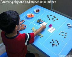 10 DIY Montessori Inspired Activities For Your Toddler - matching numbers