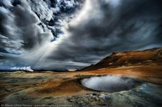 The world's end - Alberto Ghizzi Panizza Photography #iceland #clouds #geyser www.albertoghizzipanizza.com