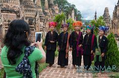 MYANMAR Reisetipps: KAKKU - Im Land der Pa-O | Hier bekommst du die besten Insidertipps für deine Reise nach KAKKU in Myanmar: Hotels, Gästehäuser, Kosten, Anreise, Karten, Maps, Restaurants, Eintrittspreise, Reiseberichte uvm. www.MyanmarBurmaBirma.com | Diese jungen Damen gehören dem Volk der Pa-O an.