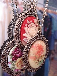 vintage jewelry. I have the red one in pink and green!! Find Everything you need to re-create this look at Sleepy Poet Antique Mall!