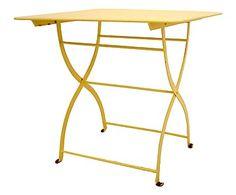 Tavolino in ferro Jacotte giallo, 80x76x80 cm