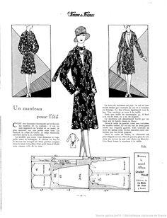Manteau d'été (La Femme de France 13/05/1928)