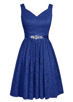 Angel Formal Dresses Women's V-Neck Short Floral Lace Bridesmaid Dress Prom Dress >>> See this great image  : Bridesmaid dresses