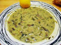 Μαγειρίτσα με μανιτάρια και ταχίνι