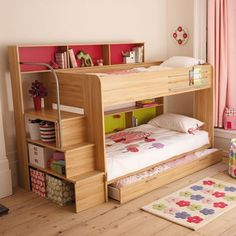 Bunk option with shelving