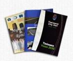 Broşura  Lucrare tipărită cu un numar redus de pagini, legate într-o coperta subţire. Formatele clasice în care se găsesc broşurile sunt următoarele: A6 (105 x 148 mm), A5 (148 x 210 mm), A4 (210 x 297 mm). Faţă de aceste formate standard se pot executa şi alte dimensiuni impuse de client. Suportul de imprimare poate avea grosimi cuprinse între 90 g/m² si 200 g/m²