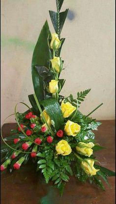 contemporary flower arrangements for church Contemporary Flower Arrangements, Tropical Flower Arrangements, Funeral Flower Arrangements, Beautiful Flower Arrangements, Altar Flowers, Church Flowers, Funeral Flowers, Flowers Garden, Exotic Flowers
