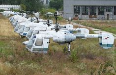 Ka-26 helicopters abandoned near the airport of Kishinev, Moldova. Would love to see one of these in a museum here in the Pacific Northwest.
