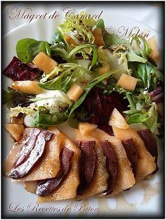 Salade au melon et magret fumé / Les recettes de Patou