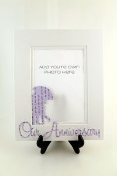 Custom 'Our Anniversary' Picture Frame  by HandmadeHeadquarters, $25.00