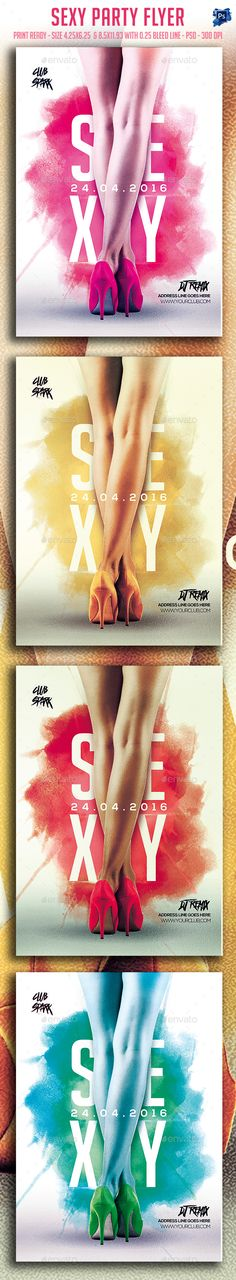 Sexy Party Flyer — Photoshop PSD #city #club • Available here → https://graphicriver.net/item/sexy-party-flyer/15589739?ref=pxcr