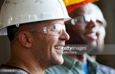 Stock Photo : Close up group of construction workers