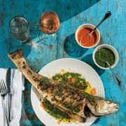 whole roasted fish- Peche, New Orleans