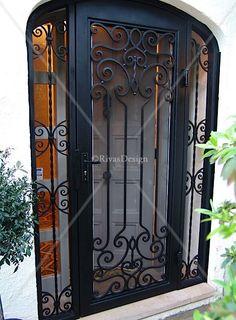 rod iron security door