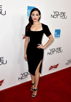 When she gave us sultry vampire vibes in this LBD. | 23 Times Emmy Rossum Slayed The Red Carpet