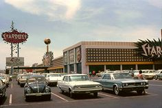 The parking lot at The Stardust seen here in 1968.