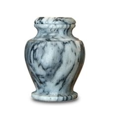 Gray Marble Cremation Keepsake Urn