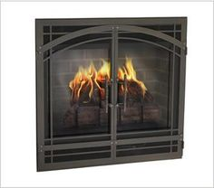 Give the front of your direct vent fireplace a makeover with a custom designed Legend DV front. Gate mesh doors allow the heat to warm your home. Start with the basic design and customize finish. Fireplace Fronts, Direct Vent Fireplace, Fireplace Glass Doors, Fireplace Doors, Custom Fireplace, Fireplace Screens, Fireplace Ideas, Zero Clearance Fireplace, Traditional Doors