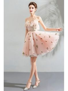 Super Cute Fairy Pink Short Tulle Dress With Straps Wholesale,homecomi – formalgowns Girls Bridesmaid Dresses, Straps Prom Dresses, Tulle Prom Dress, Prom Party Dresses, Homecoming Dresses, Girls Dresses, Short Tight Prom Dresses, Cute Fairy, Pink Tulle
