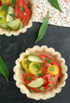 Heirloom Tomato and Tomatillo Tart Recipe