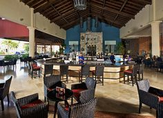 Lobby bar at Ocean Blue & Sand resort in Punta Cana, Dominican Republic.