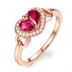 Beautiful 0.7ct Natural Red Ruby in 18K Gold Ring by CHARMES Jewellery Check more at https://www.charmes.in/product/0-7ct-natural-red-ruby-in-18k-gold-ring/