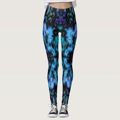 Psychedelic kaleidoscope pattern leggings