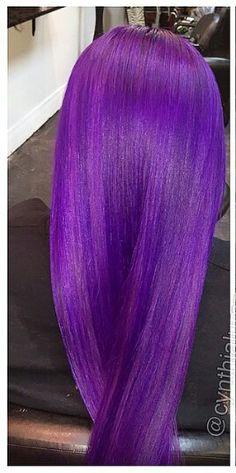 Midnight purple hair color