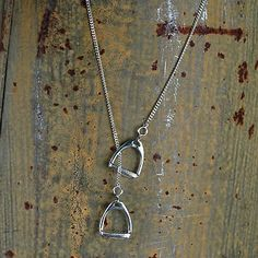 Sterling Stirrup Necklace