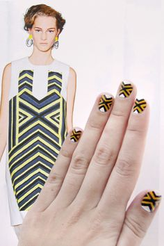Marni nail art DIY...how fun is this pop art pattern?