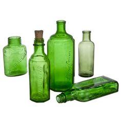 German Glass Bottle Set III, $112, now featured on Fab.